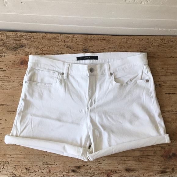 """Joe's Jeans Pants - Joe's Jeans 4 1/2"""" cuffed white jean shorts"""